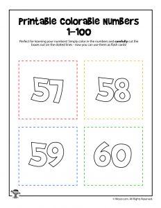 Printable Numbers 57-60