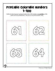 Printable Numbers 61-64