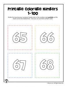 Printable Numbers 65-68