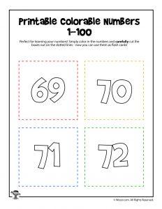 Printable Numbers 69-72