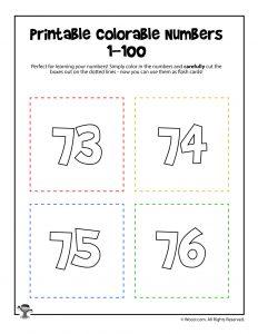 Printable Numbers 73-76