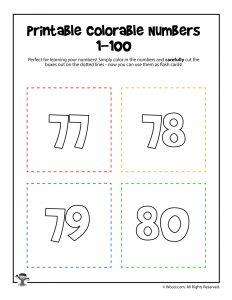 Printable Numbers 77-80