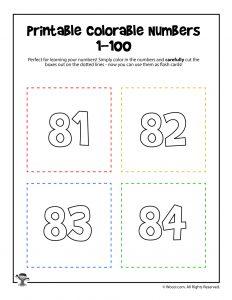 Printable Numbers 81-84
