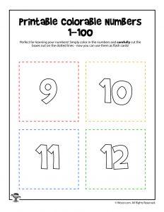 Printable Numbers 9-12