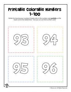 Printable Numbers 93-96
