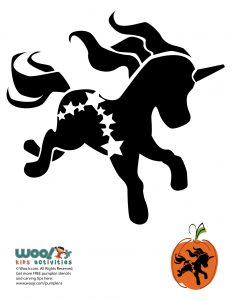 Cute Unicorn Pony Stencil