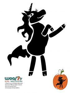 Unicorn Pumpkin Stencil Printable