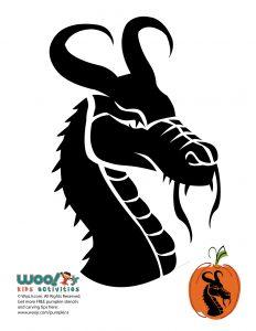 Dragon Head Pumpkin Carving Design