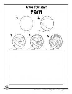 Yarn Drawing Step by Step