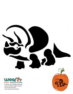 pumpkin template dinosaur  Dinosaur Printable Pumpkin Stencils | Woo! Jr. Kids Activities