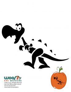 t-rex dinosaur pumpkin template  Dinosaur Printable Pumpkin Stencils   Woo! Jr. Kids Activities