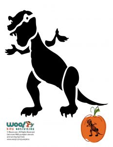 t-rex dinosaur pumpkin template  Dinosaur Printable Pumpkin Stencils | Woo! Jr. Kids Activities