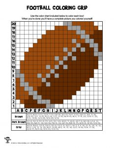 Football Coloring Grid Activity - ANSWER KEY