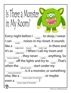 Monster in My Room Ad Libs