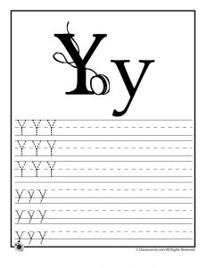 Letter Y Tracing Practice