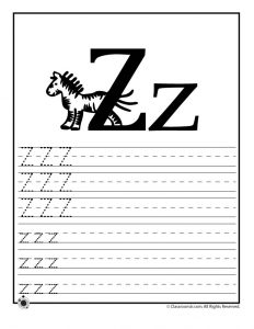 Letter Z Tracing Practice