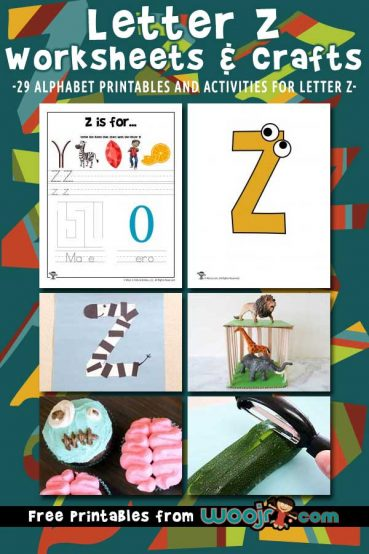 Letter Z Worksheets & Crafts