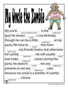 My Uncle the Zombie Ad Libs