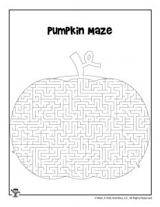 Pumpkin Patch Maze for Kids