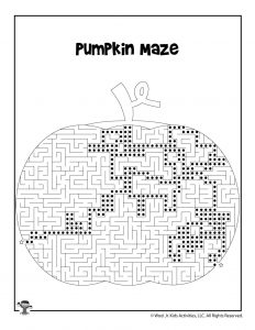 Pumpkin Patch Maze for Kids - ANSWER KEY