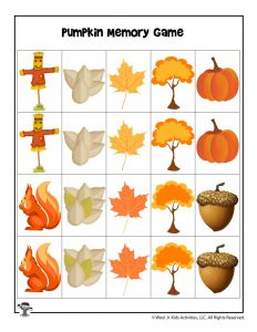 Pumpkin Picking Matching Game