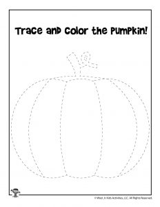 Trace and Color the Pumpkin