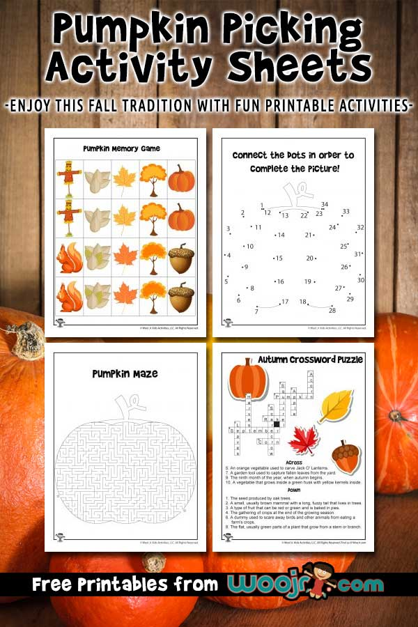 Pumpkin Picking Activity Sheets