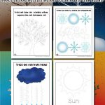 Easy Preschool Seasons Activity Pages