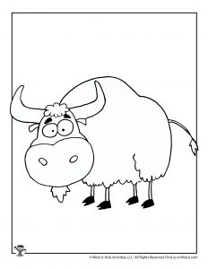 Yak Coloring Page