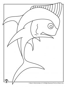 Y is for Yellowfin Fish Coloring Page
