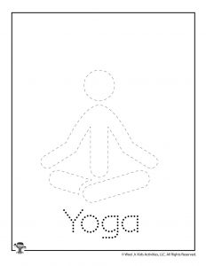 Y is for Yoga Word Tracing
