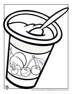 Yogurt Coloring Page
