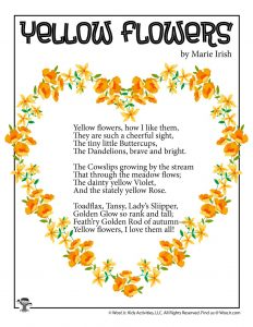 Yellow Flowers Children's Poem