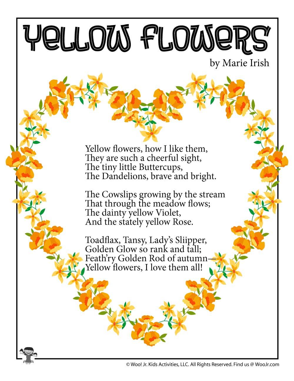 35 Fresh Flower Poems for Kids