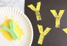 Y Yellow Sponge Paint Art