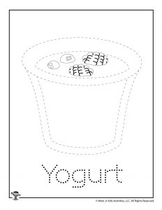 Y is for Yogurt Word Tracing