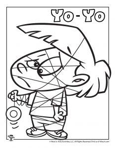 Y is for Yo-Yo Coloring Page
