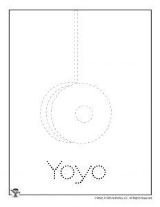 Y is for Yo-Yo Word Tracing