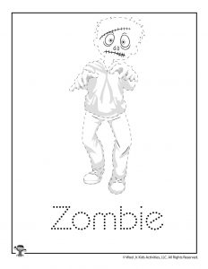 Z is for Zombie Word Tracing
