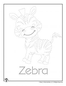 Z is for Zebra Word Tracing
