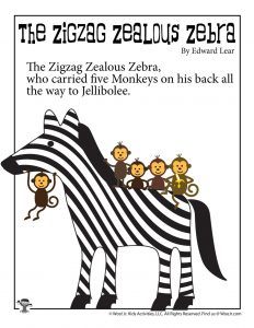 Zigzag Zealous Zebra Poem for Kids