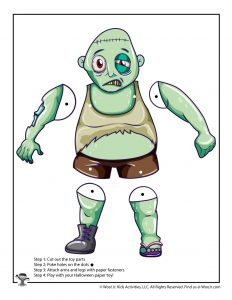 Zombie Paper Puppet Toy