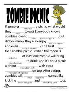 Zombie Picnic Ad Libs for Kids