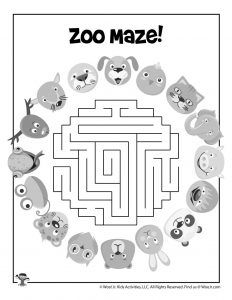 Zoo Maze for Kids