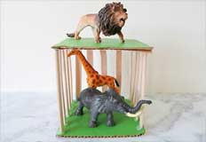 Zoo Playhouse Craft for Kids