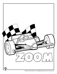Z is for Zoom Coloring Page
