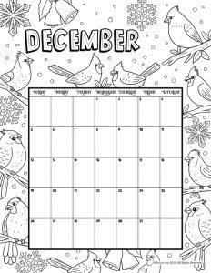 December 2021 Printable Calendar Page-dec
