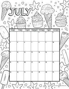 July 2021 Printable Calendar Page