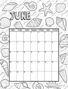 June 2021 Printable Calendar Page