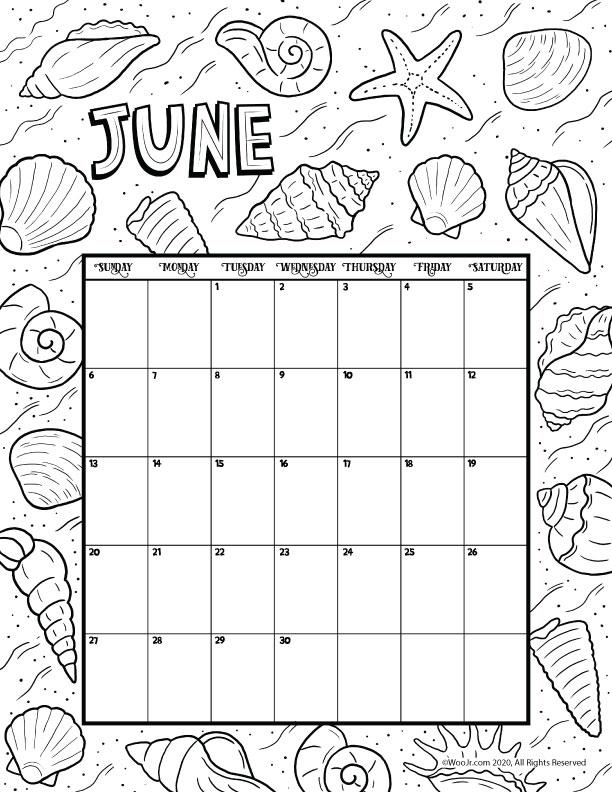 June 2021 Printable Calendar Page | Woo! Jr. Kids Activities